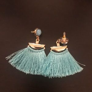 Bauble Bar  turquoise tassel earrings